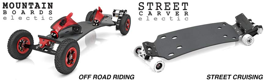 Trampa Electric Mountain Boards and Urban Carvers Canada online sales Vancouver