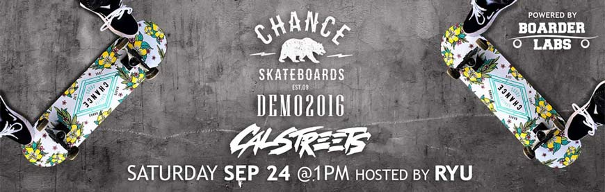 Chance Skateboards Demo Vancouver CalStreets and hosted BoarderLabs Prizes and Swag