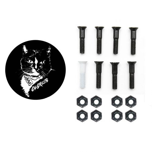 Spike the Cat Skateboard Hardware Black White Canada Pickup Vancouver