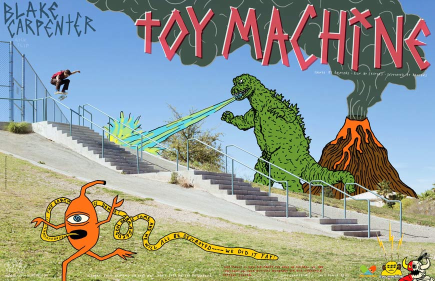 Toy Machine Skateboards Canada Pickup Vancouver