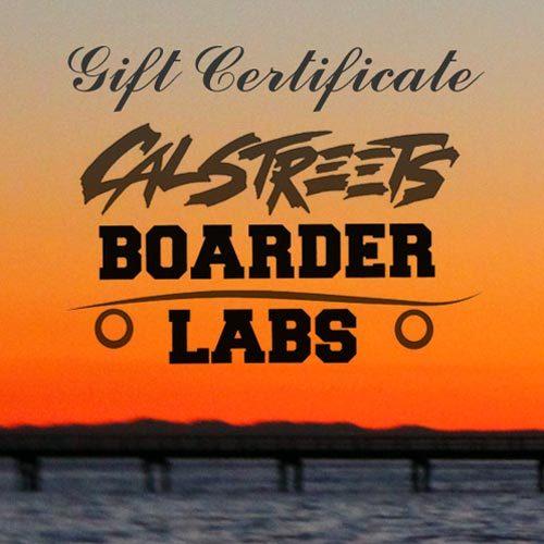 Skateshop Gift Card Certificate Canada