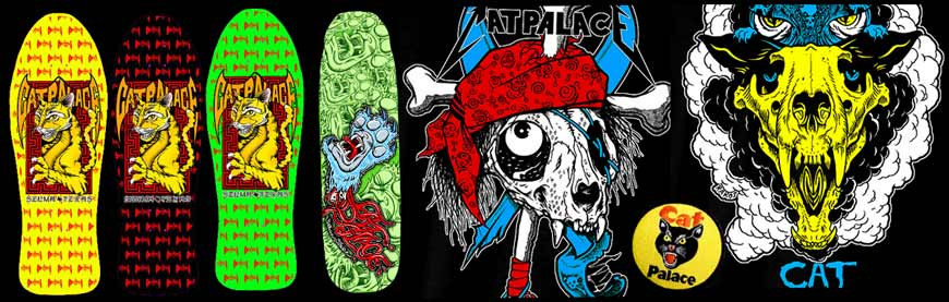 Cat Palace Skateboards Online Sales Canada Pickup Vancouver Love Kitties