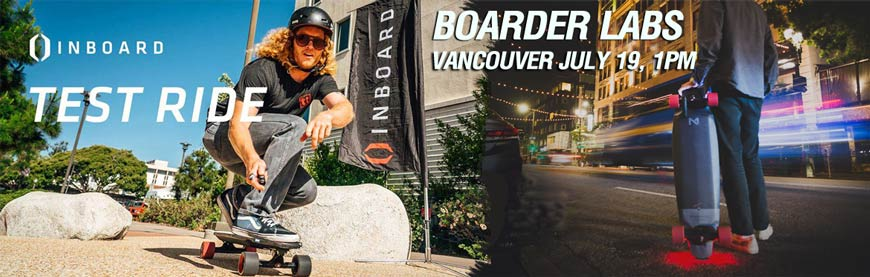 Inboard Electric Skateboard Demo July 19 Vancouver Test Ride