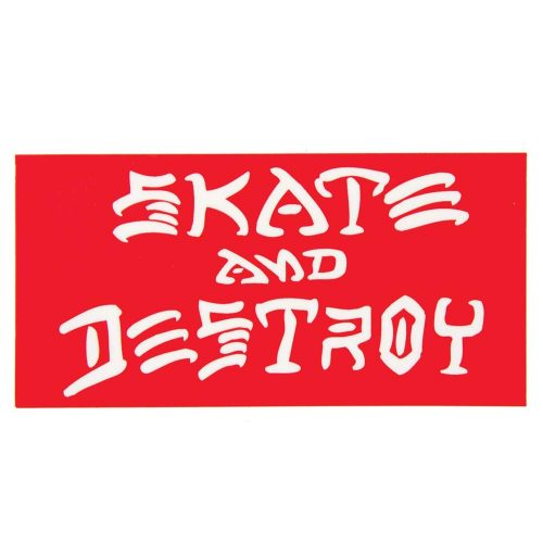 "Thrasher Skate and Destroy Sticker 3.25"" x 6.25"" Vancouver"