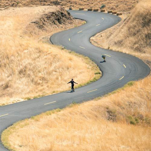 She Ride downhill