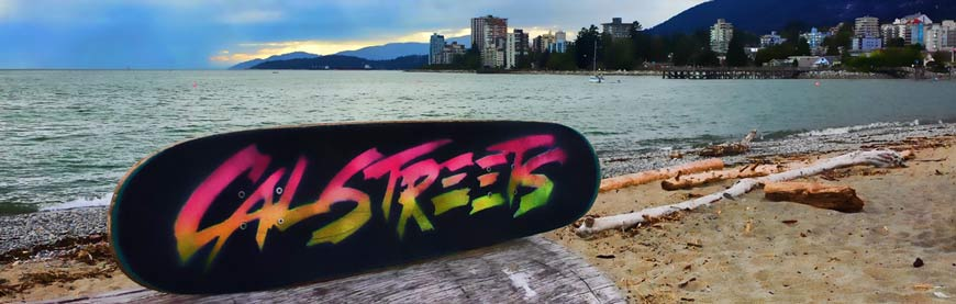 CalStreets Skates Custom Painted Griptape Art Vancouver