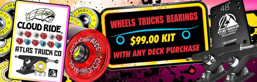 DB Longboards Atlas Trucks Cloud Ride Wheels Vancouver Canada 99 dollar deal