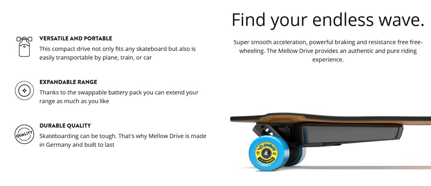 Buy Mellow Drive Assembly Portable Electric Skateboard Canada Online Sales Vancouver Pickup