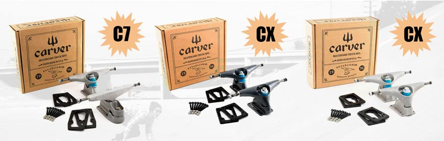 Carver Skateboards truck Header