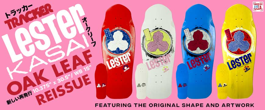 "Buy Tracker Lester Kasai Oak Leaf Reissue Deck 10.375"" x 30.5"" Canada Online Sales Vancouver Pickup"