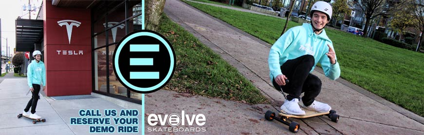 Evolve Electric Boards Vancouver Canada Online Sales Call to try out our Electric Boards line