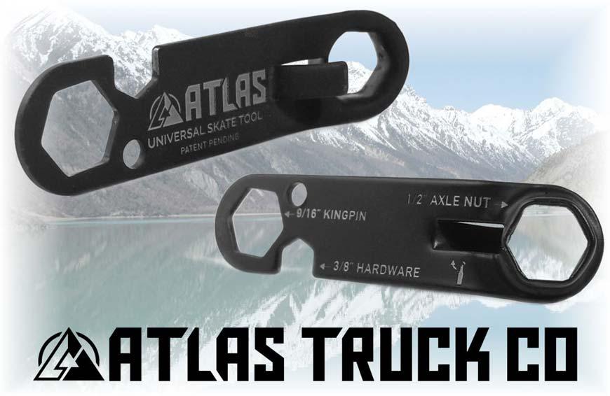 Atlas Skateboard Tools Black Keychain