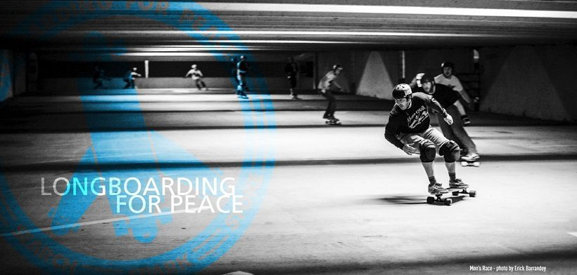 Houston Longboarding for Peace Banner