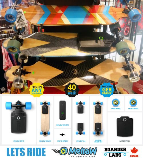 Mellow electric skateboards visits Labs Vancouver