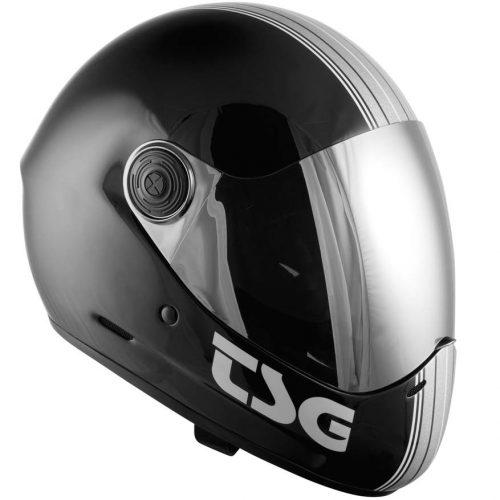 TSG Pass Pro Full Face Silver Stripe Canada Pickup Vancouver