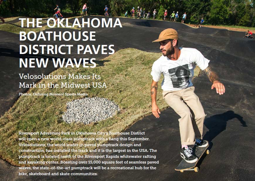 OKLAHOMA BOATHOUSE DISTRICT PAVES NEW WAVES-Pumptrack