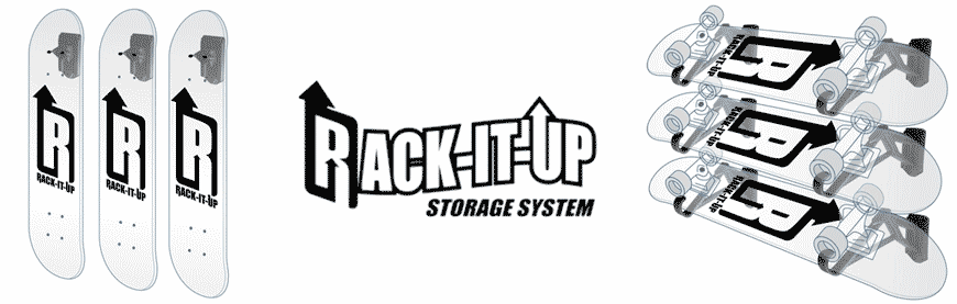 Rackit up Storage Skateboards Canada Online Sales Pickup Vancouver