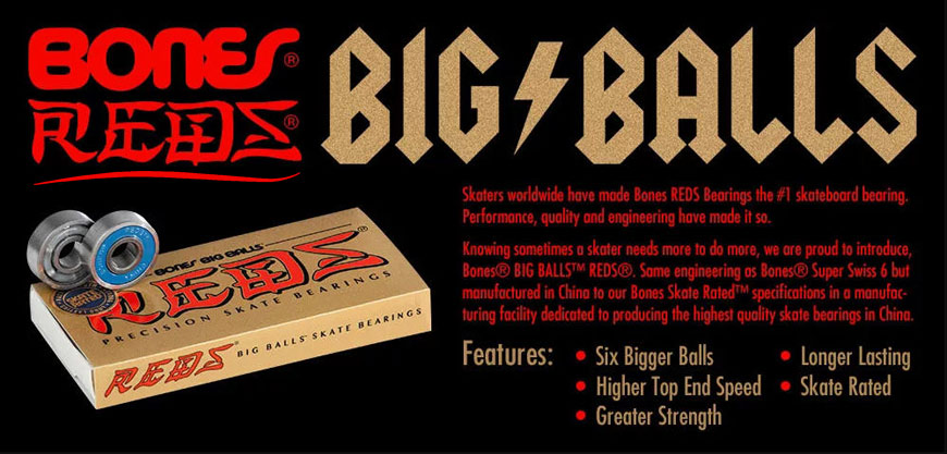 Buy Bones Big Balls Reds Bearings Canada Online Sales Vancouver Pickup
