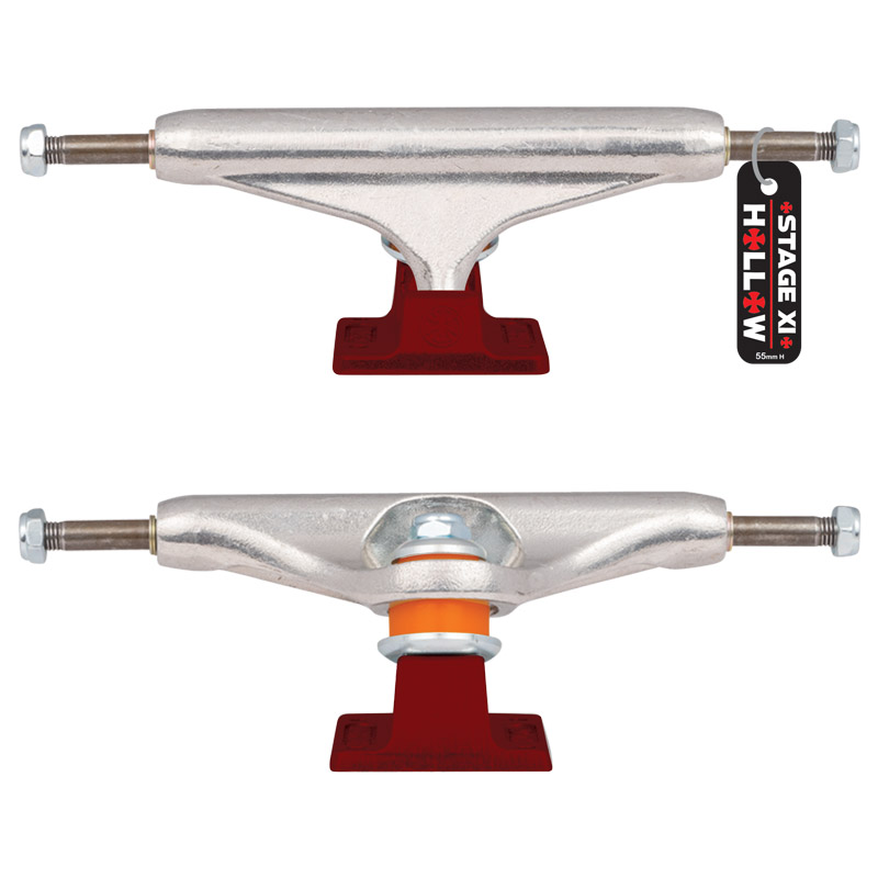 Independent 139mm Forged-Hollow Polished//Red Trucks Set Of 2