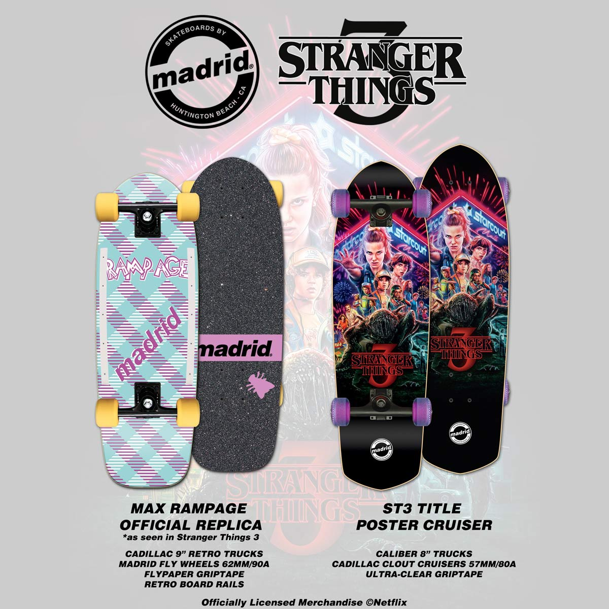 Madrid X Stranger Things 3 - Max Rampage Official Replica Complete 9 5