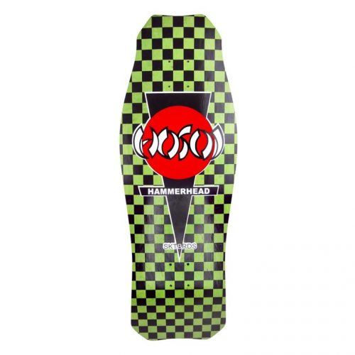 Hosoi hammerhead checkerboard green og concave Reissue Skateboard Deck Canada Pickup Vancouver