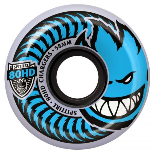 Spitfire Chargers Classic Clear Blue 54mm 80A Wheels Canada Online Sales Pickup Vancouver