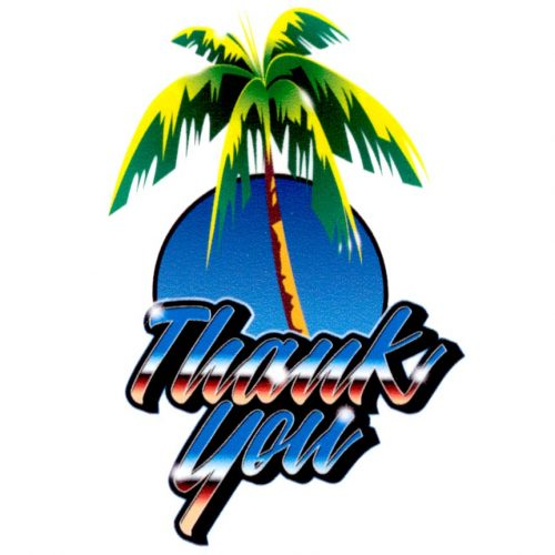 Thank you palm tree stick Canada Online Sales Pickup Vancouver