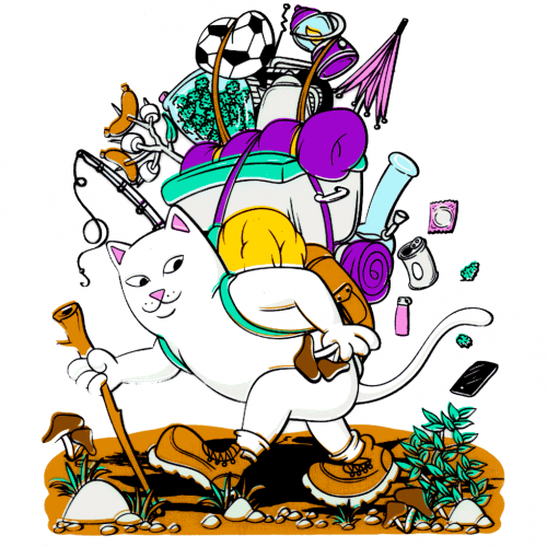 RipNDip Camping Sticker Canada Online Sales Pickup Vancouver