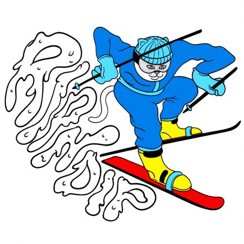 RipNDip Skiing Nermal Sticker Canada Online Sales Pickup Vancouver