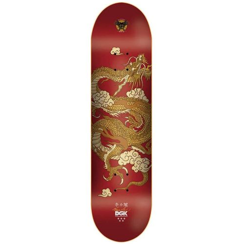 """DGK X Bruce Lee 80th Anniversary Golden Dragon Lenticular Deck Red 8.25"""" x 31.75"""" Skateboard Canada Pickup Vancouver"""