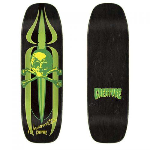 "Creature Navarrette Retro Deck 8.8"" x 32.57"" Black/Green Canada Online Sales Vancouver Pickup"