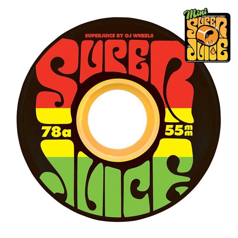 OJ Wheels Jamaica Rasta Mini Super Juice Canada Online Sales Vancouver Pickup