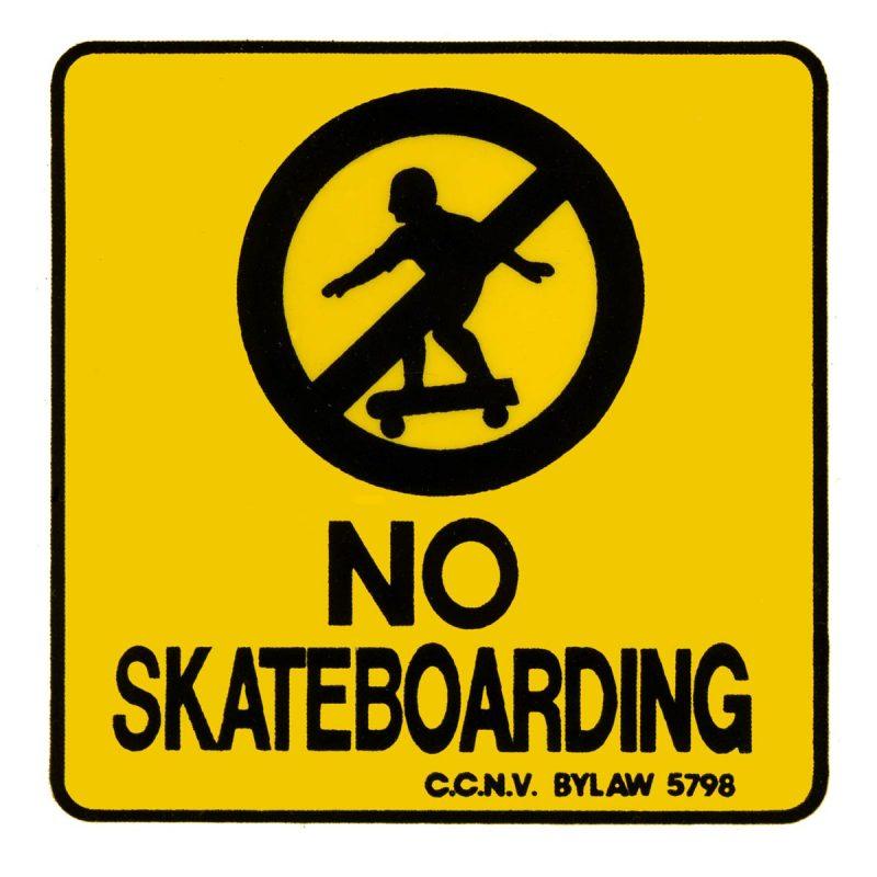 CalStreets No Skateboarding Sticker Canada Online Sales Pickup Vancouver