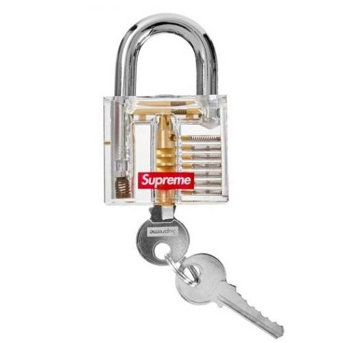 SUPREME Clear and Gold Padlock Canada Pickup Vancouver