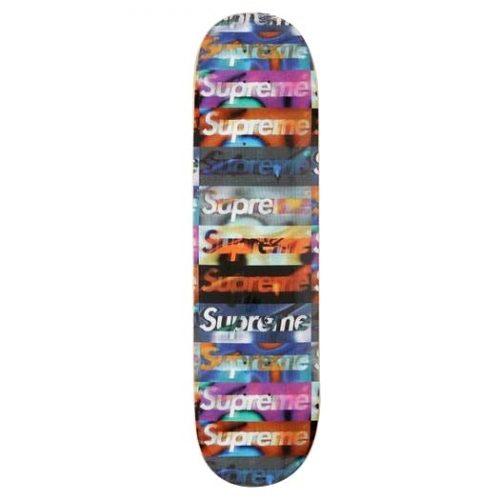 Supreme Distorted Logo Skateboard Deck Canada Online Pickup Vancouver