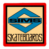 """SIMS NEW-OLD-STOCK SIMS SKATEBOARDS """"S"""" STICKER 2″ X 2″ RED"""