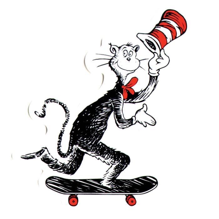Almost Dr. Seuss Cat Push Sticker Canada Online Sales Vancouver Pickup