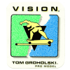 VISION NEW-OLD-STOCK TOM GROHOLSKI 2.75″ X 3.25″ CLEAR