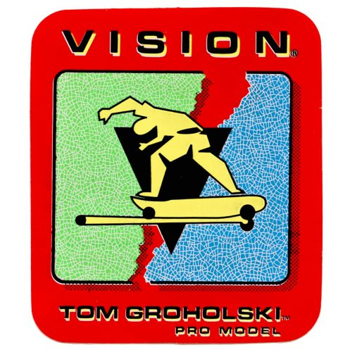 Tom Groholski New Old Stock Vision Sticker Canada pickup Vancouver