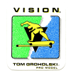 VISION NEW-OLD-STOCK TOM GROHOLSKI 2.75″ X 3.25″ WHITE