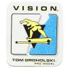 VISION NEW-OLD-STOCK TOM GROHOLSKI 2.75″ X 3.25″ BLUE WHITE