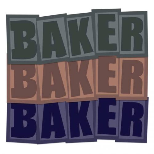 Baker Brand Logo Sticker Canada Online Sales Vancouver Pickup