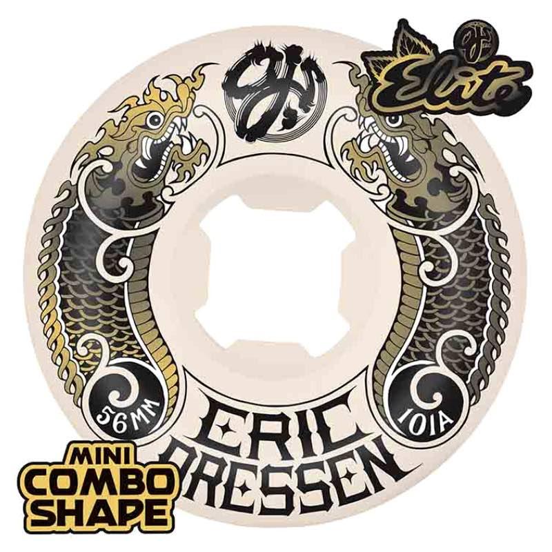 "Santa Cruz OJ Wheels Elite Gold Skateboard Sticker gold//black 4/"""