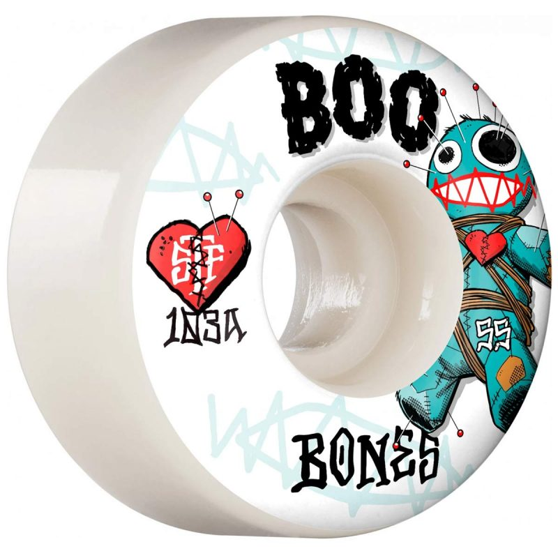 Bones Boo Johnson Voodoo v4 Wides 55mm 103a wheels white Canada Online Sales Vancouver Pickup