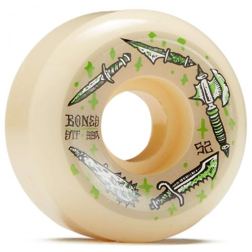 Bones STF Dark Days 52mm V5 Sidecuts 99a art by Sieben Skateboard Wheels Canada Pickup Vancouver