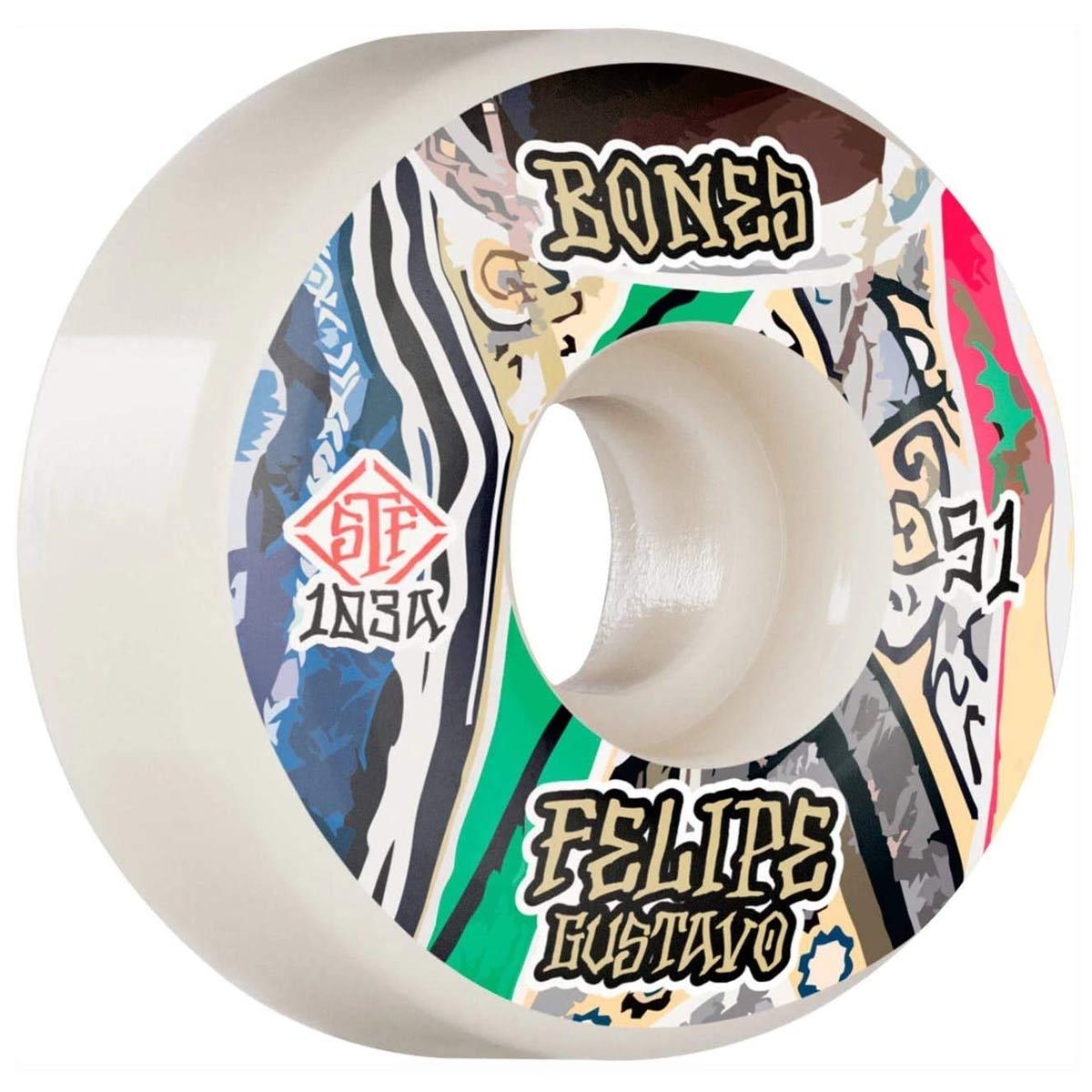 Bones Skateboard Wheels STF V5 51mm 83B 103A