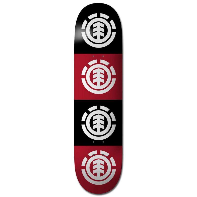 Element Quadrant deck 7.5 x 31.375 black red Skateboard Canada Pickup Vancouver