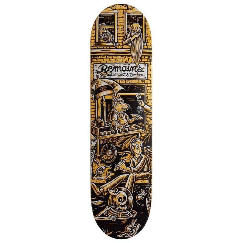 Element X Timber Remains Deck 8.25 x 31.875 black yellow Canada Pickup Vancouver