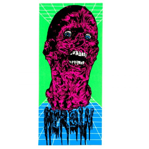 HEROIN NEON FACE MELT STICKER VANCOUVER CANADA PICKUP ONLINE