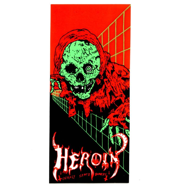 HEROIN NEON CRYPT KEEPER STICKER VANCOUVER CANADA LOCAL ONLINE PICKUP